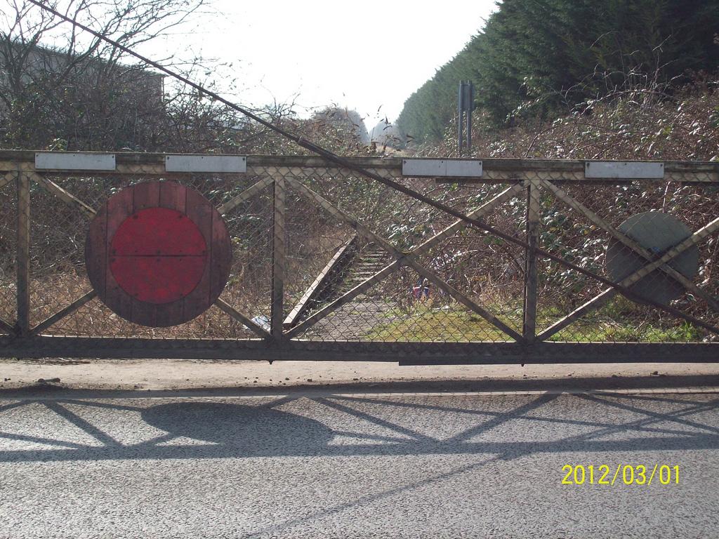 Wisbech Weasenham Lane Level Crossing looking towards March