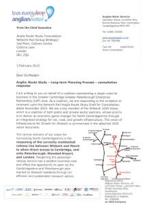 Anglia Route Study Consultation Response